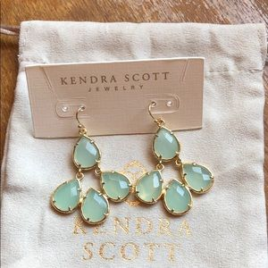 Kendra Scott earrings. Gold.